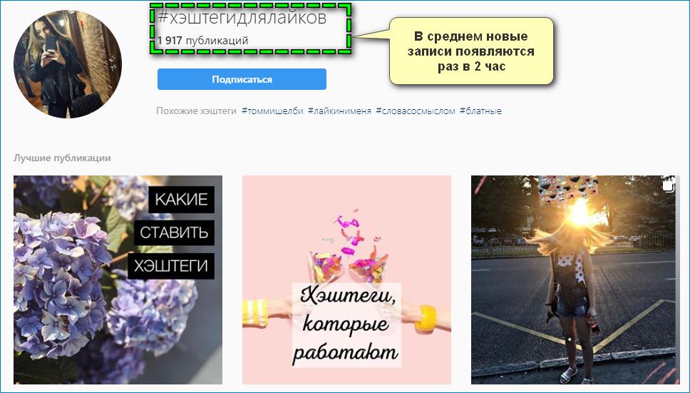 Примеры хэштегов в Инстаграм