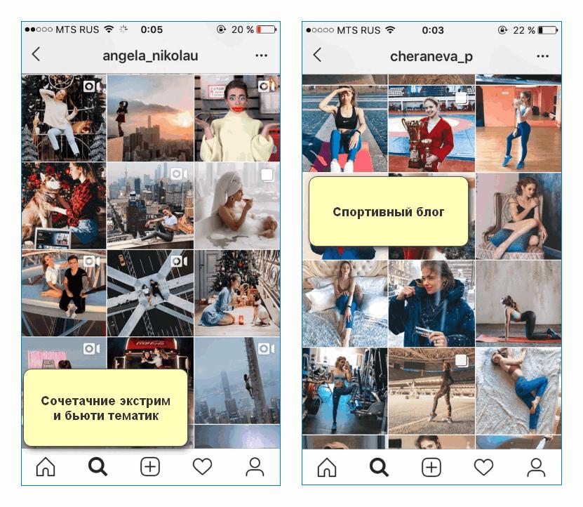 Примеры контента Инстаграм