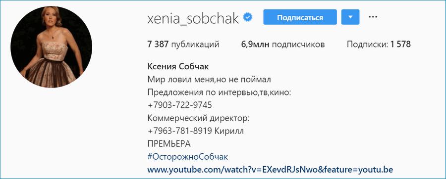 Собчак Инстаграм